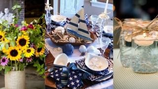 6 idei de aranjamente centrale pentru o petrecere vara