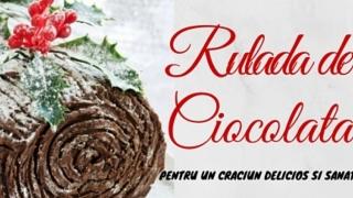 Rulada de ciocolata (fara zahar) pentru un Craciun delicios si sanatos