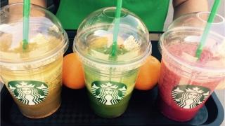 Yey! Starbucks intampina primavara cu prima gama de smoothie-uri din fructe si legume proaspete